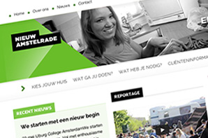 Screenshot of part of the Nieuw Amstelrade website