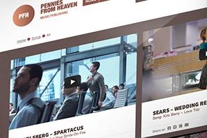 Screenshot of the Pennies From Heaven website