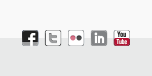 Social media icons, some of many social media networks