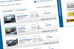 Close up of the Autobedrijf van der Boon Oldenhage website