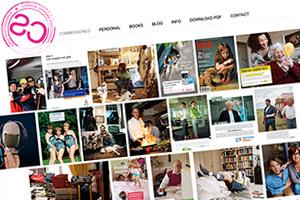 Close up of the Chantal Spieard Fotografie website