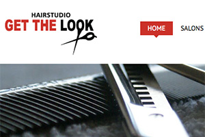 Close up of the Get The Look Hair Studio website