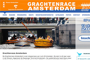 Close up of the Grachtenrace Amsterdam website