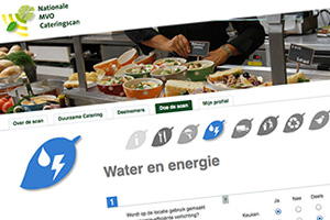 Close up of the Nationale MVO Cateringscan website
