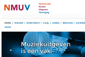 Close up of the NMUV website
