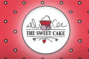 Close up of The Sweet Cake website